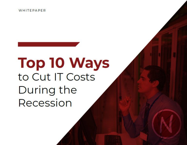 Report Cover - Top 10 Ways to Cut IT Costs During the Recession