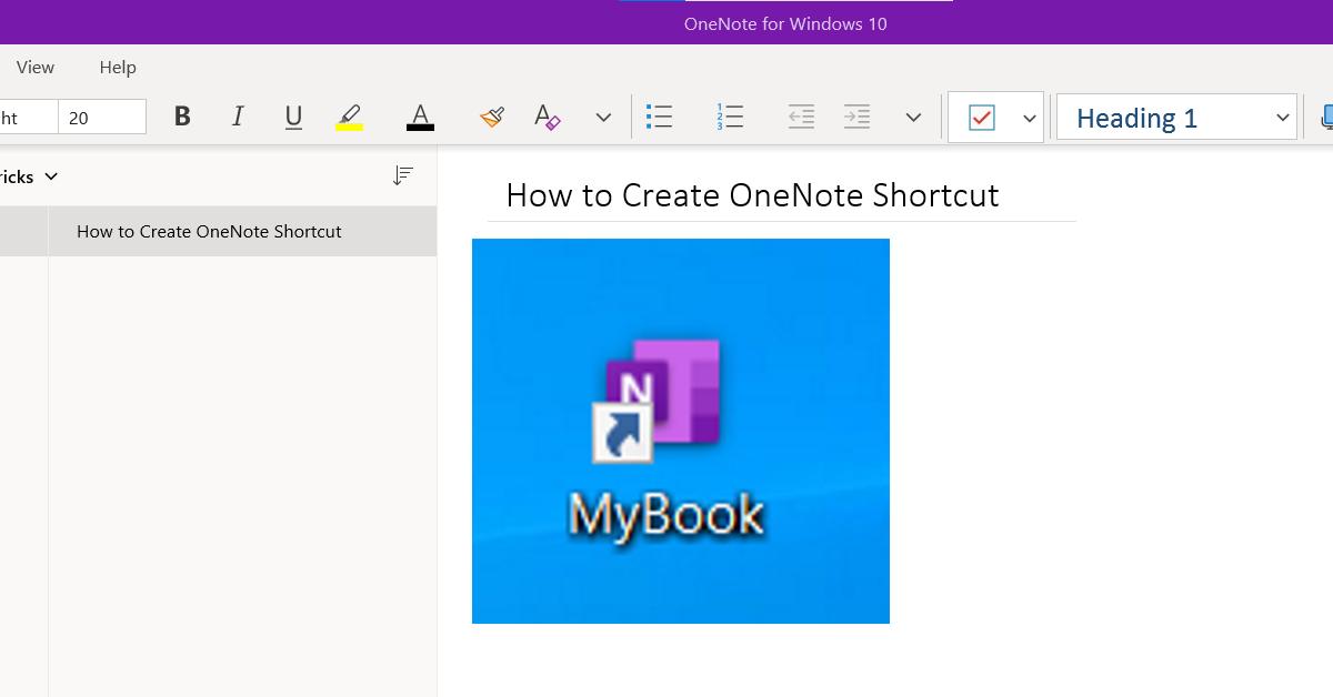 OneNote Full Screen Example