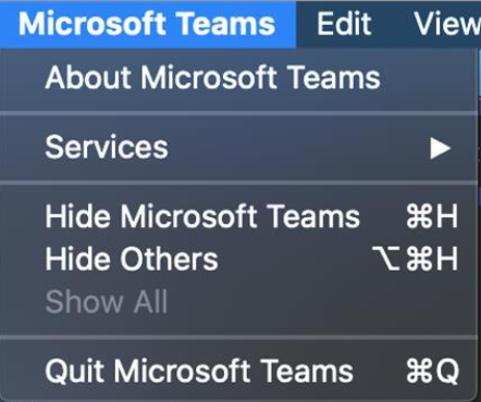 Teams Quit On Mac to fix dropped calls